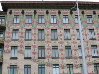 Otto Wagner - fasada Majolikahaus