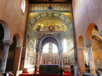 Wnętrze Bazyliki Eufrazjusza, Porec