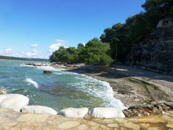Plaża - kemping Lanterna - Chorwacja