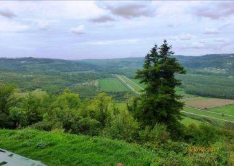 Widok ze wzgórza Motovun