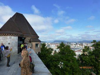 Widok z zamku w Lublanie