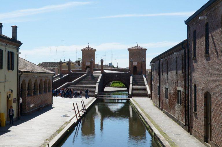 Most Trepponti w Comacchio - Włochy