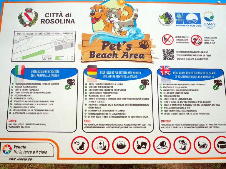 Wydzielona część plaży dla psów