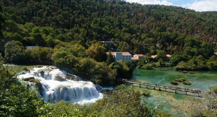 Widok na Krka w Chorwacji