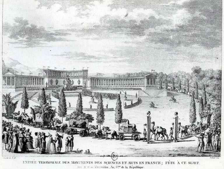 Wjazd do Paryża konwoju skradzionych dzieł sztuki, Pierre Gabriel Berthault