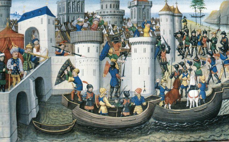 Zdobycie Konstantynopola, miniatura z XV w.