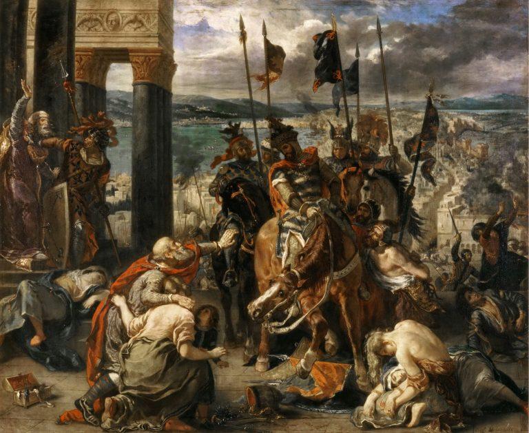 Wejście krzyżowców do Konstantynopola, Eugène Delacroix