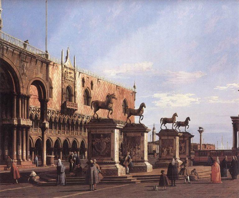 Canaletto, Kaprys – Konie na placu św. Marka