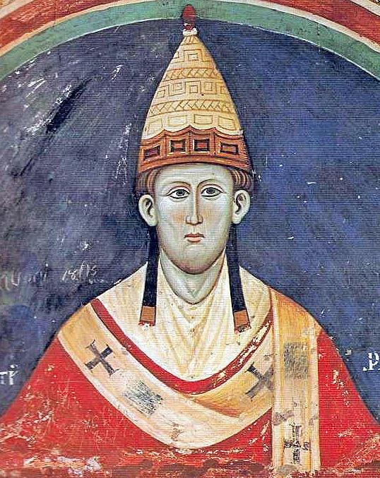 Papież Innocenty III, fresk z klasztoru św. Benedykta