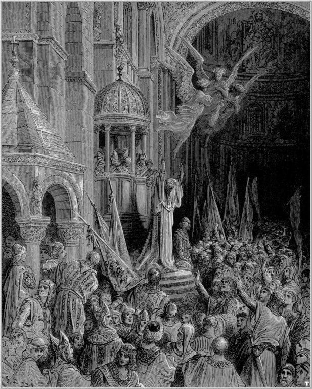 Doża Enrico Dandolo ogłasza krucjatę, Gustave Dore