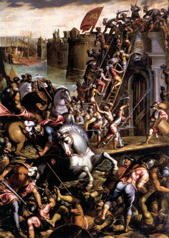 Krzyżowcy podbijający miasto Zara, Andrea Vincentino