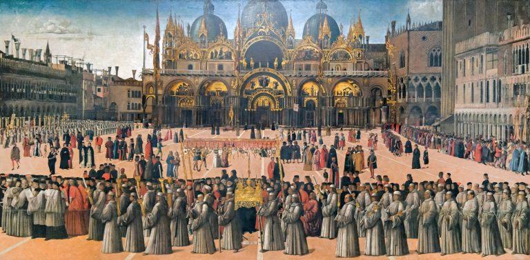 Gentile Bellini - Procesja na placu św. Marka