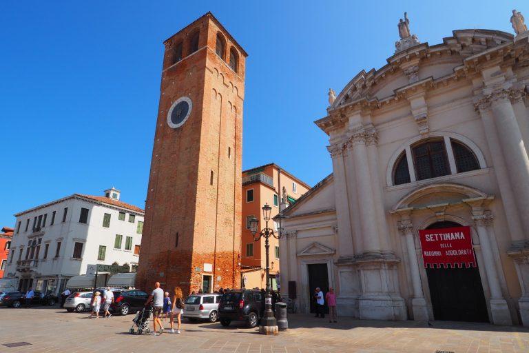 Kościół i wieża św. Andrzeja w Chioggi