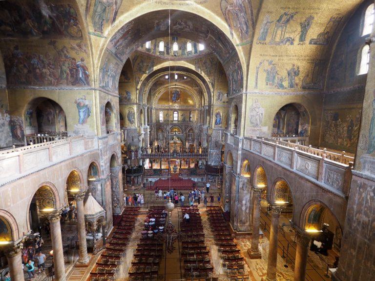 Wnętrze Bazyliki św. Marka, Wenecja