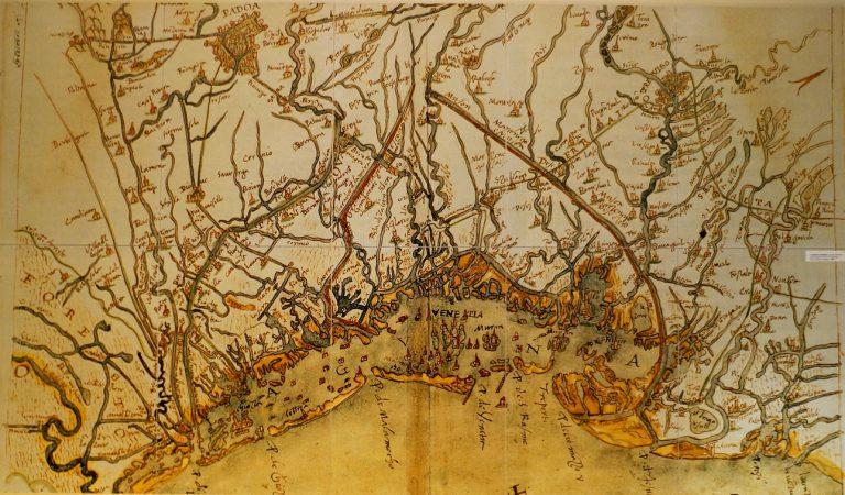 Mapa Laguny Weneckiej - Cristoforo Sabbadino