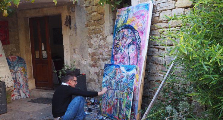 Artysta malarz w Grožnjan