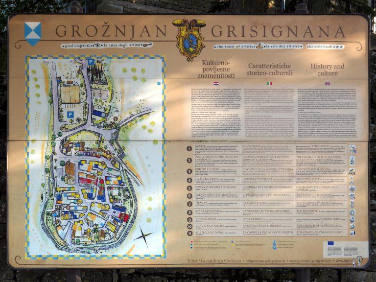 Grožnjan - plan miasta