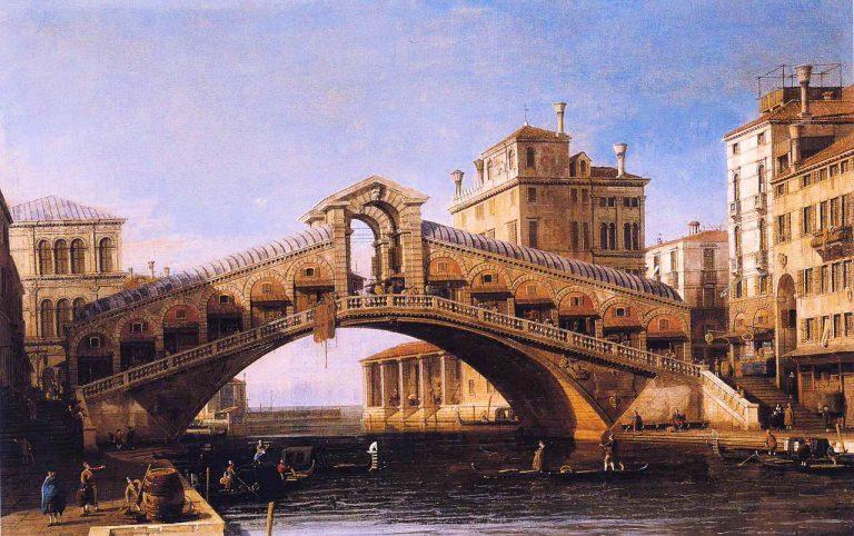 Kaprys - Most Rialto, Canaletto