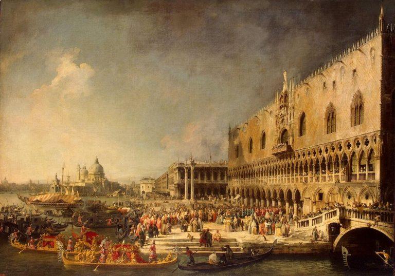 Przyjęcie francuskiego ambasadora w Pałacu Dożów, Canaletto
