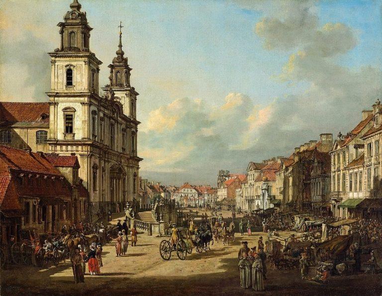 Bernardo Bellotto, zwany Canaletto, Kośćiół św. Krzyża w Warszawie