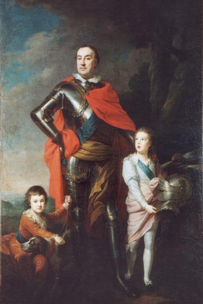 Portret Franciszka Ksawerego Branickiego z synami