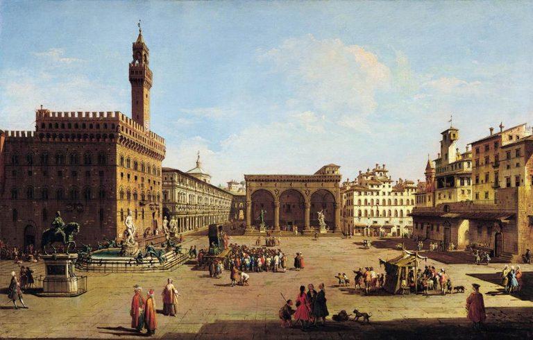 Giuseppe Zocchi, Piazza della Signoria, Florencja