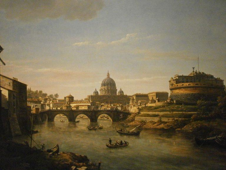 William Marlow, Widok Rzymu od strony Tybru