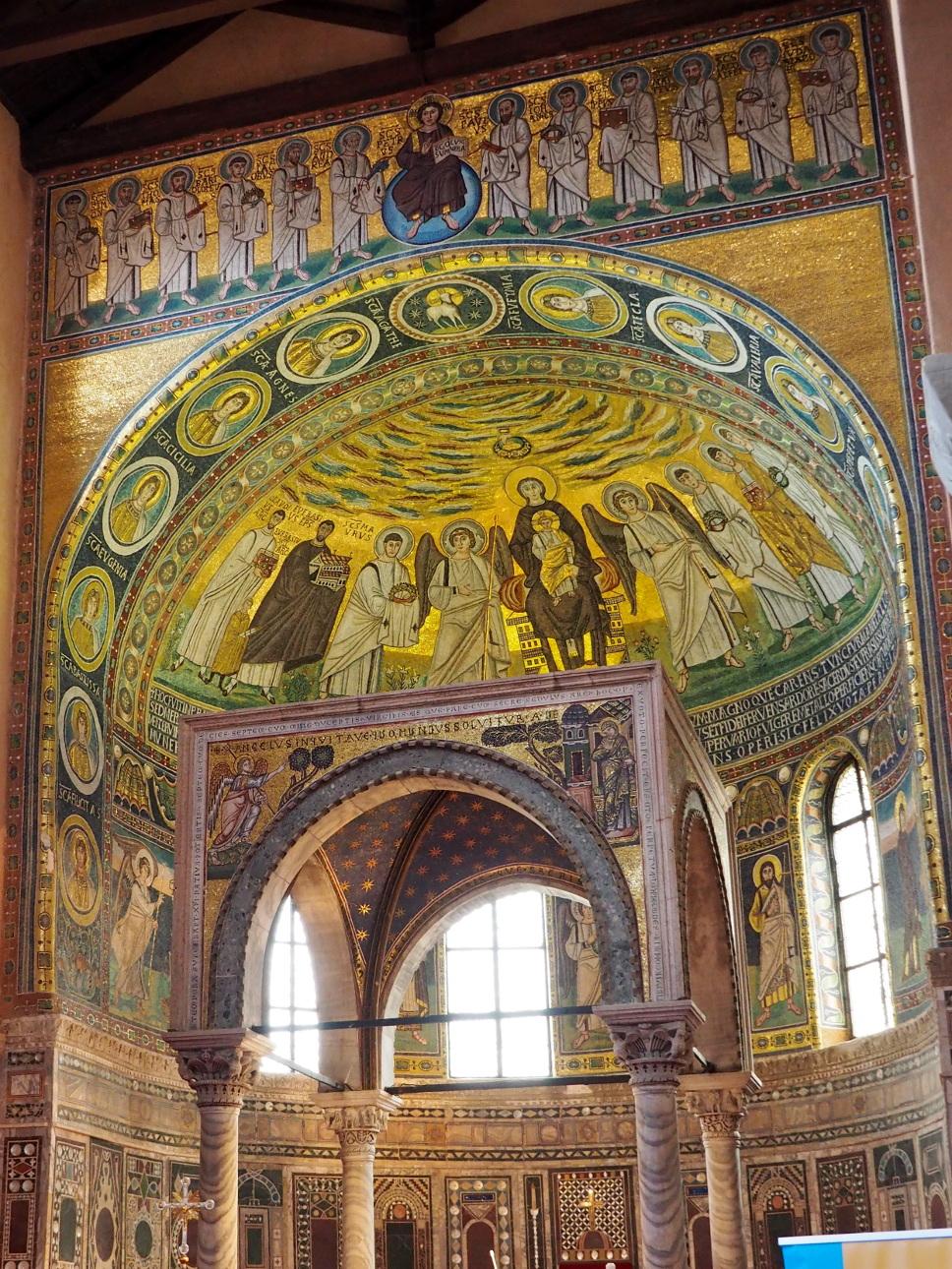 Mozaika w apsydzie, Bazylika Eufrazjusza w Porecu